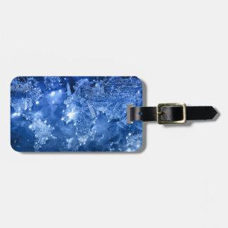 world map galaxy blue 2 luggage tag