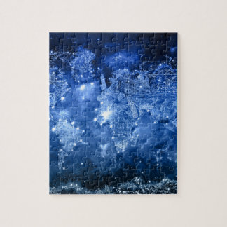 world map galaxy blue 2 puzzle