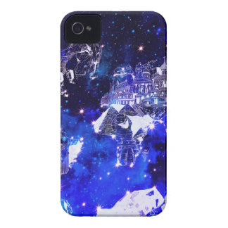 world map galaxy blue iPhone 4 cases