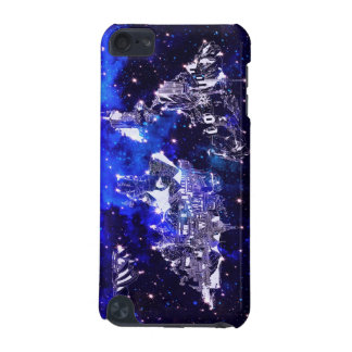 world map galaxy blue iPod touch (5th generation) covers