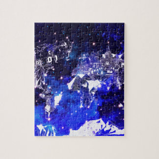 world map galaxy blue puzzles