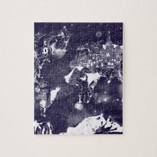 world map galaxy purple jigsaw puzzle