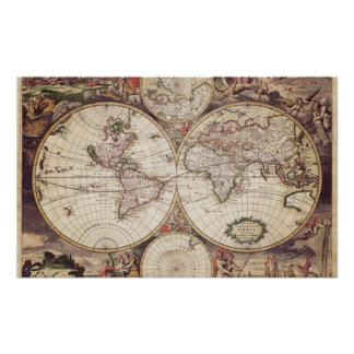 World Map Geography Poster