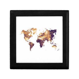 world map gift box