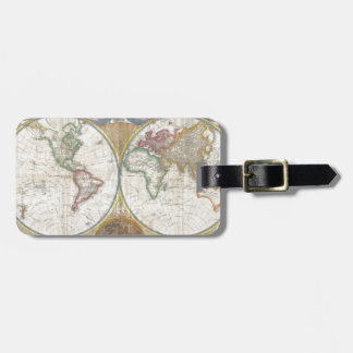 World Map Gifts Luggage Tag