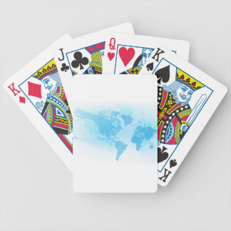 World Map Global Earth Abstract Background Bicycle Playing Cards