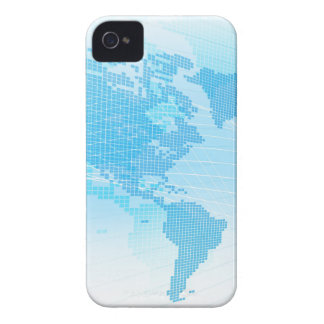 World Map Global Earth Abstract Background iPhone 4 Cover