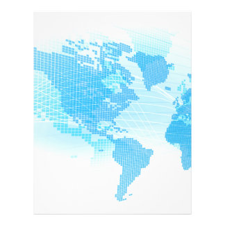 World Map Global Earth Abstract Background Letterhead