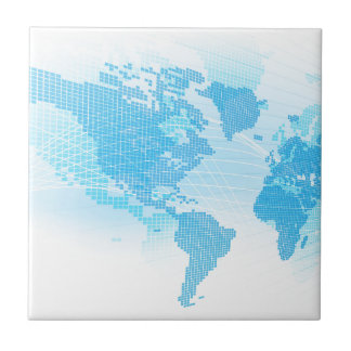 World Map Global Earth Abstract Background Tile