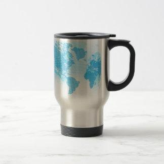 World Map Global Earth Abstract Background Travel Mug