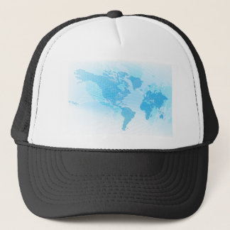 World Map Global Earth Abstract Background Trucker Hat