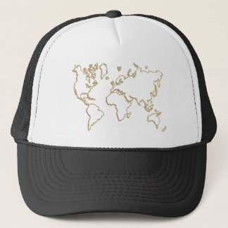 world map hat design