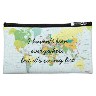 World Map - I haven't been everywhere... Cosmetic Bag