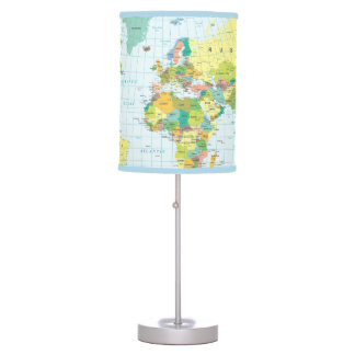 World Map - I haven't been everywhere... Table Lamp