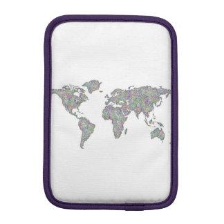 World map iPad mini sleeve