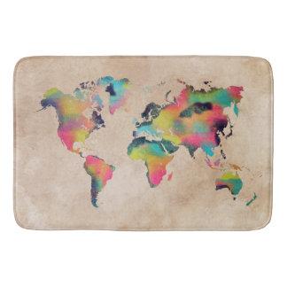 world map Large Bath Mat