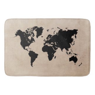 world map Large Bath Mat