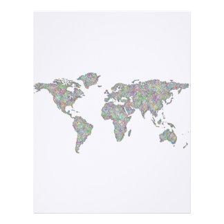 World map letterhead