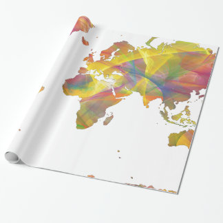 WORLD MAP MC 2 - WRAPPING PAPER