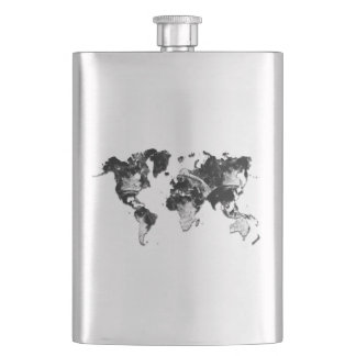 WORLD MAP - Moon Craters Flask