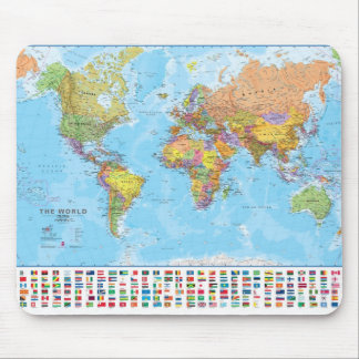 World Map  Mousepad / Mousemat