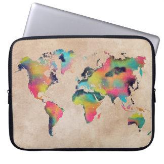 "world map Neoprene Laptop Sleeve 15"""
