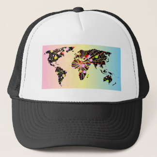 World Map New Year Trucker Hat
