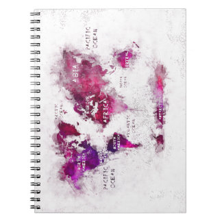 world map OCEANS and continents Notebooks