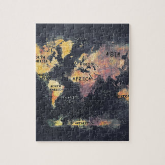 world map OCEANS and continents Puzzles