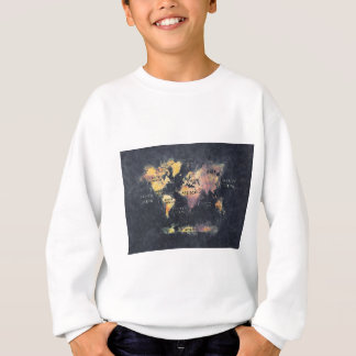 world map OCEANS and continents Sweatshirt