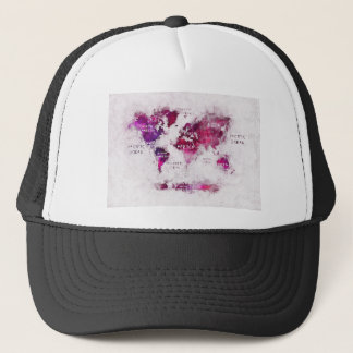 world map OCEANS and continents Trucker Hat