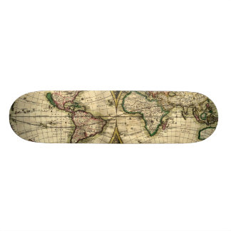 World Map of 1689 Gifts Skate Board Deck
