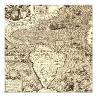 World Map of America by Diego Gutiérrez Photo Print