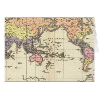 World Map of Clothing Styles Greeting Card