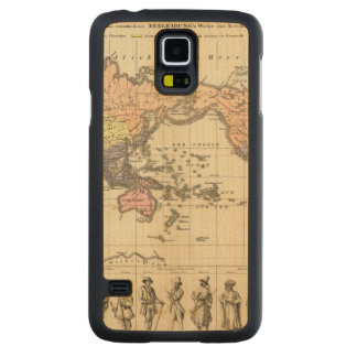 World Map of Clothing Styles Maple Galaxy S5 Slim Case