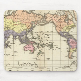 World Map of Clothing Styles Mouse Pad