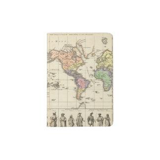 World Map of Clothing Styles Passport Holder