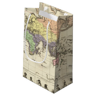 World Map of Clothing Styles Small Gift Bag