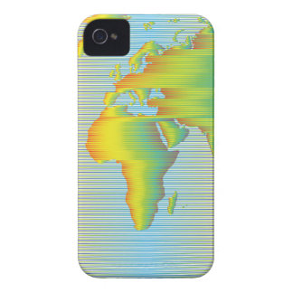 World map of rainbow bands Case-Mate iPhone 4 case
