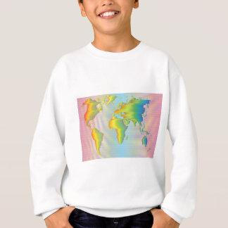World map of rainbow bands sweatshirt