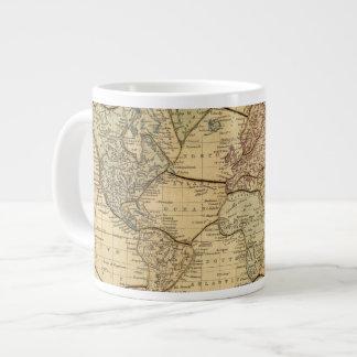 World map on Mercators Projection Large Coffee Mug