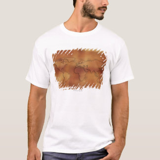 World map on textured background T-Shirt