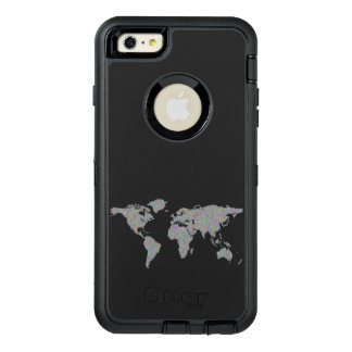 World map OtterBox defender iPhone case