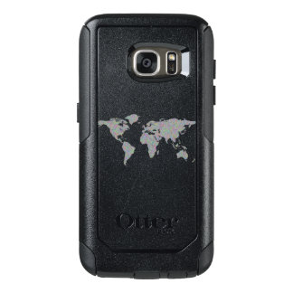 World map OtterBox samsung galaxy s7 case