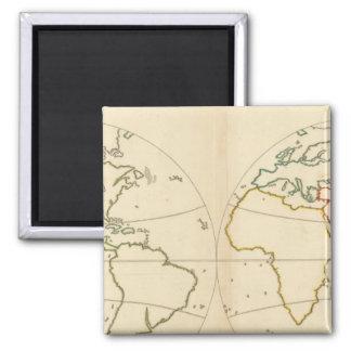 World Map Outline Square Magnet
