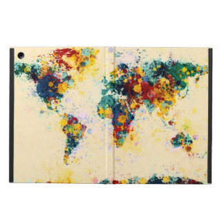 World Map Paint Splashes iPad Air Cover