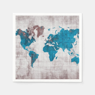 world map Paper Napkins