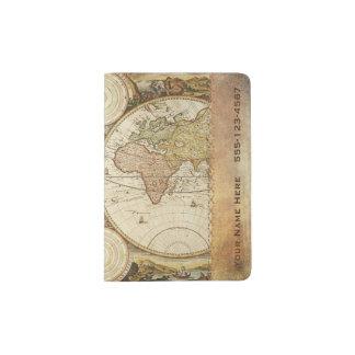 World Map Passport Holder