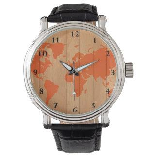 World Map Pattern Watch
