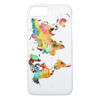 world map phone iPhone 8/7 case